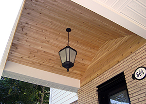 Cedar Front Porch Detail